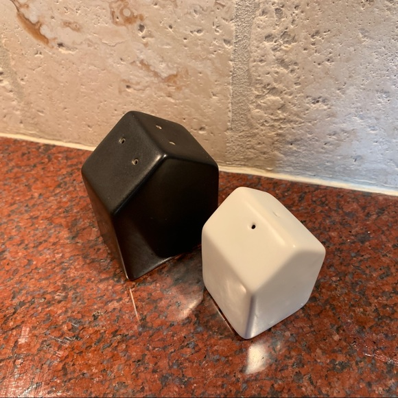 Other - Black and White Modern Salt and Pepper Shakers
